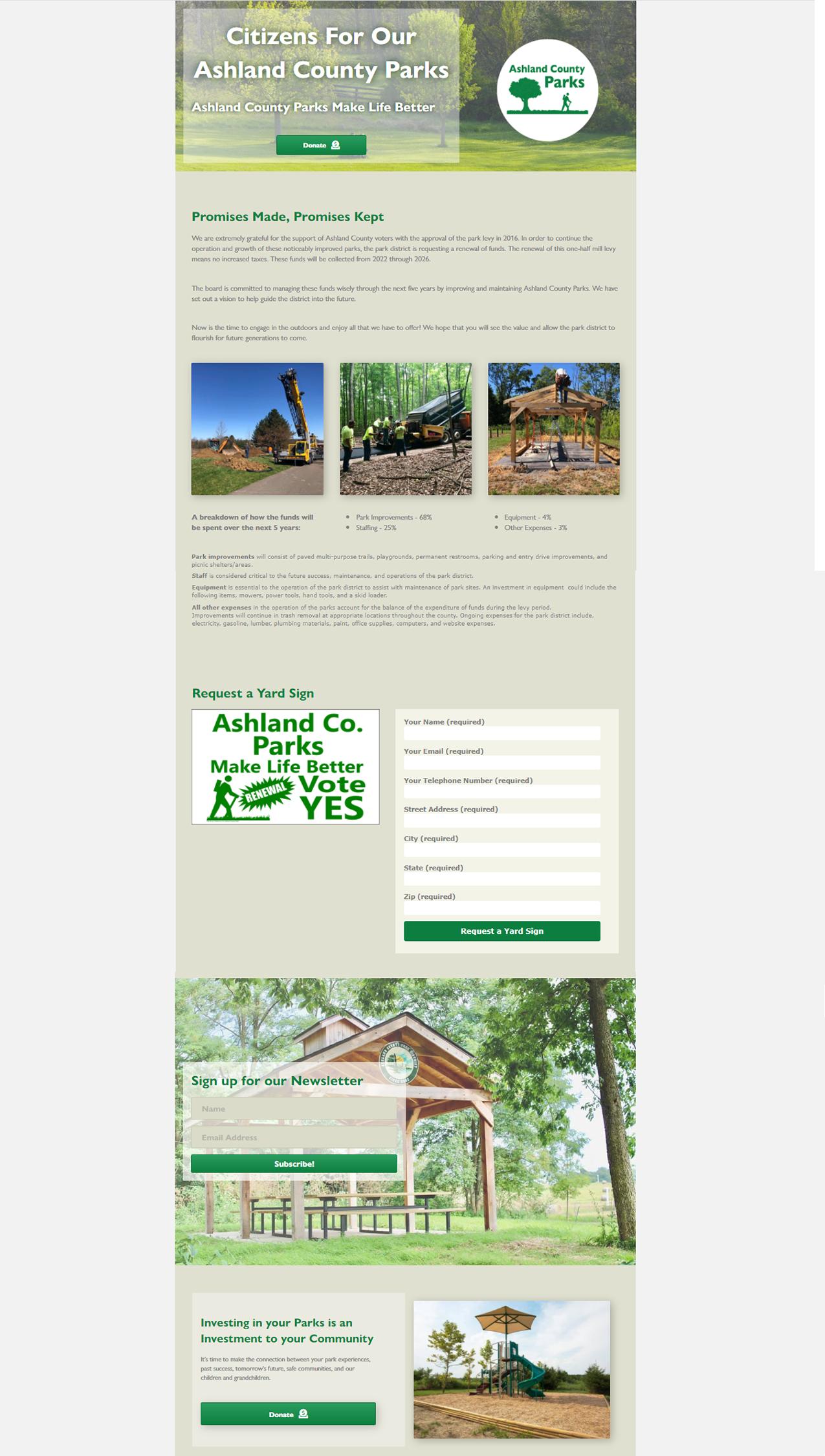 Ashland Parks Site