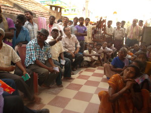 Distribution of Pots and Pans, etc., to tribals affeted by Hudhud SAM_2311