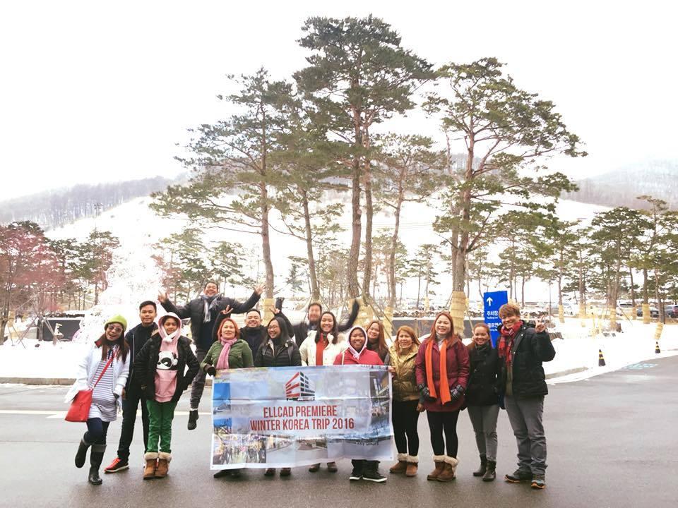 Ellcad Team on the snow