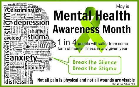 Did you know that May in Mental Health Awareness Month ?