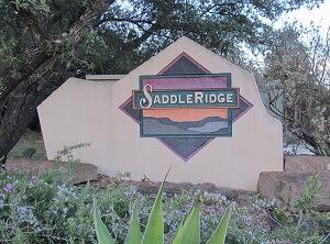 Saddle Ridge monument sign