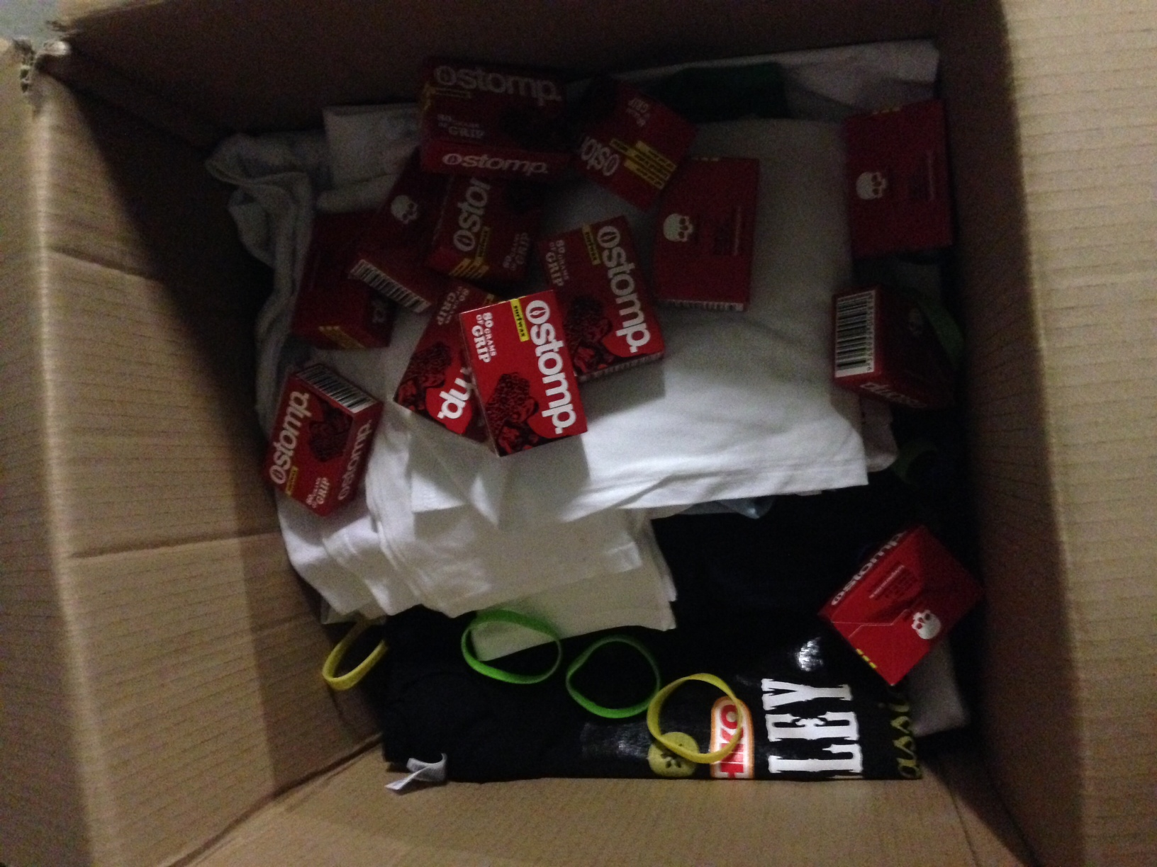 Tshirts, wax and others to India