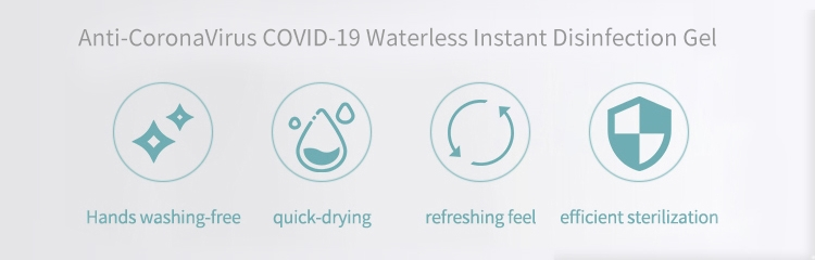 Anti-CoronaVirus COVID-19 Waterless Instant Disinfection Gel