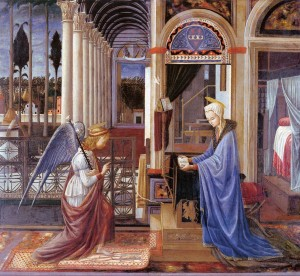 The Annunciation by CARNEVALE, Fra