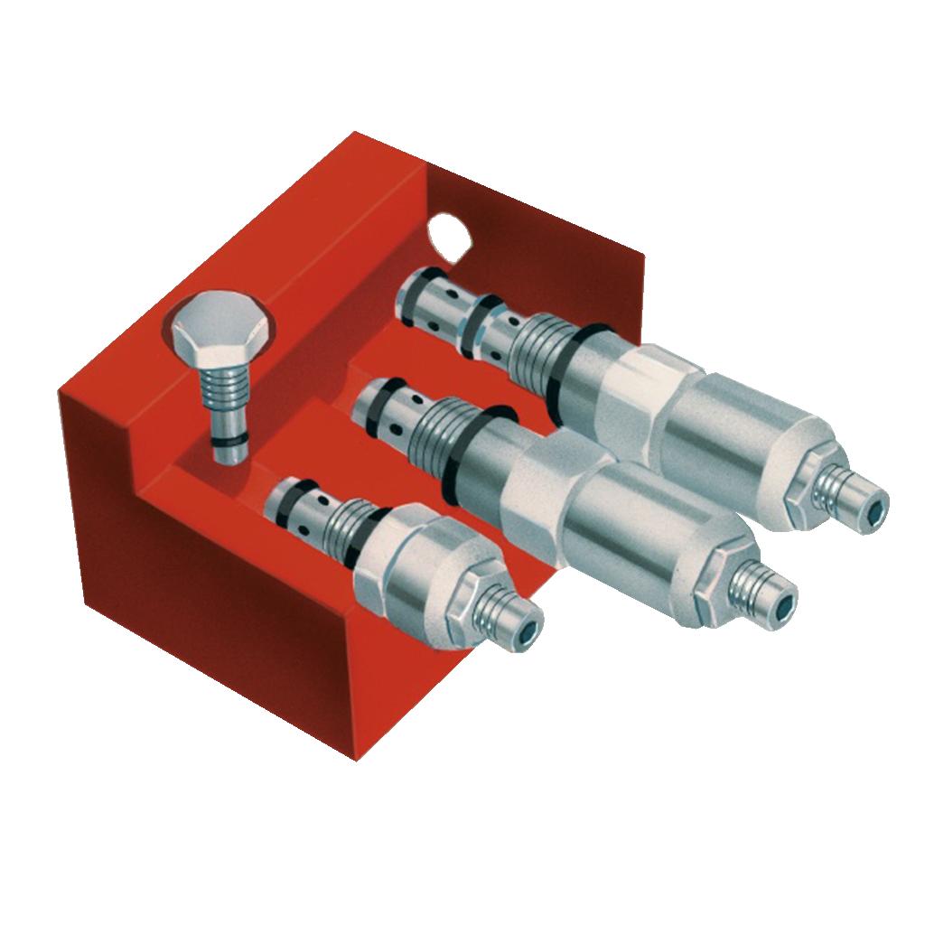 hydraulic starter components manifold block