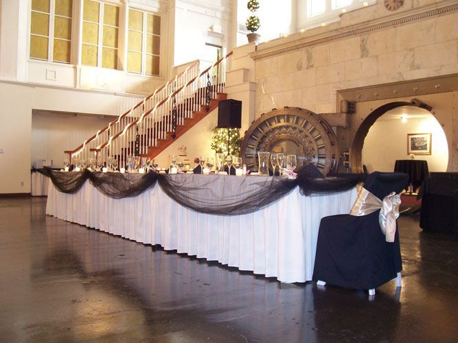 Head table in front.