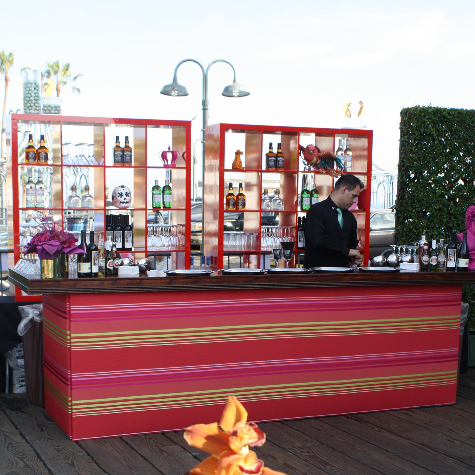 Carousel Wedding social private event party planner design bar bartender