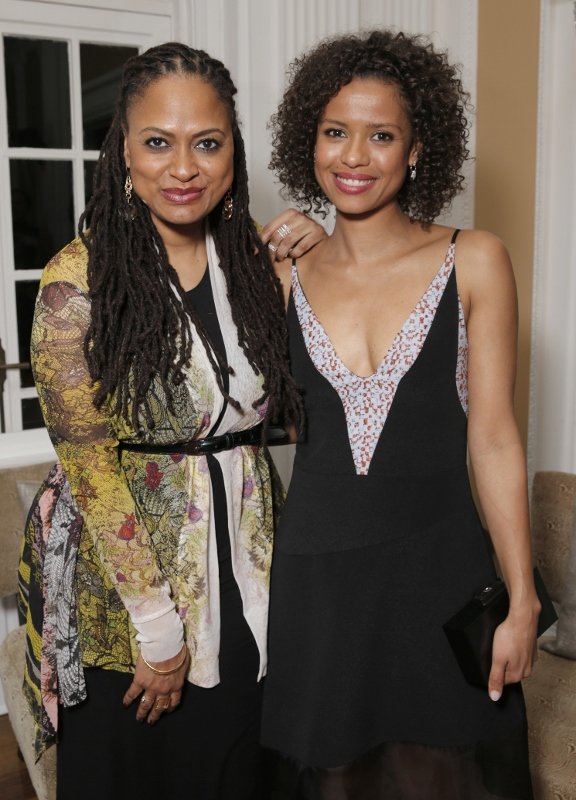 Honorees Ava DuVernay and Gugu Mbatha-Raw attend Alfre Woodard's 2015 Oscar's Sistahs Soirée sponsored by White Diamond Lustre, Elizabeth Taylor and Piper-Heidseick. Event Design by AOO Events and transportation provided by Audi, at the Beverly Wilshire on Wednesday, February 18, 2015 in Los Angeles.(Photo by Todd Williamson/Invision for Alfre Woodard/AP Images)