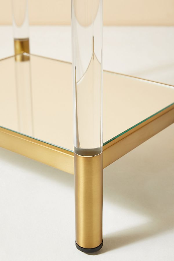 Anthropologie's Oscarine Lucite Mirrored Bookshelf