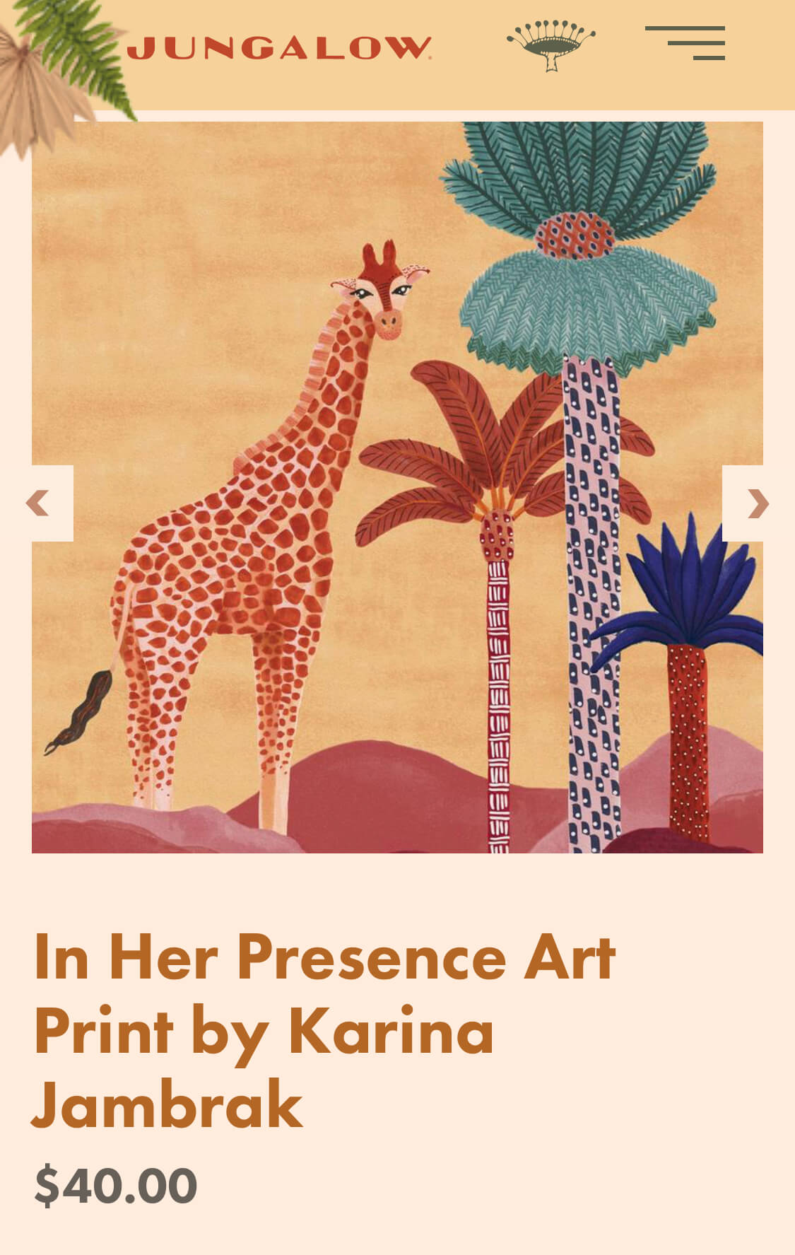 In Her Presence Art Print by Karina Jambrak