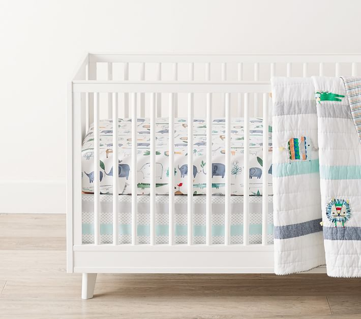 Organic Colby Animal Fitted Crib Sheet