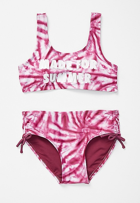 Tie Dye Made for Summer Color Changing Girls Bikini Swimsuit