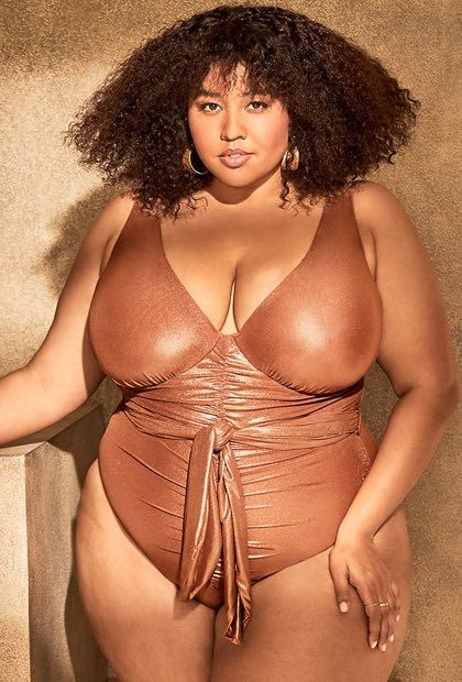 Bronze One Piece Swimsuit