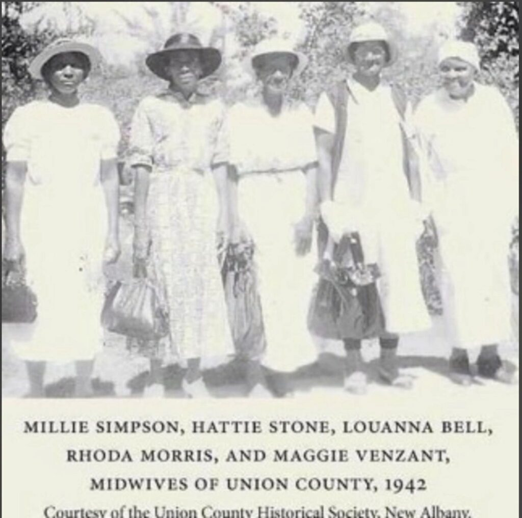 Mississippi midwives; Millie Simpson, Hattie Stone, LouAnna Bell, Rhoda Morris & Maggie Venzant.