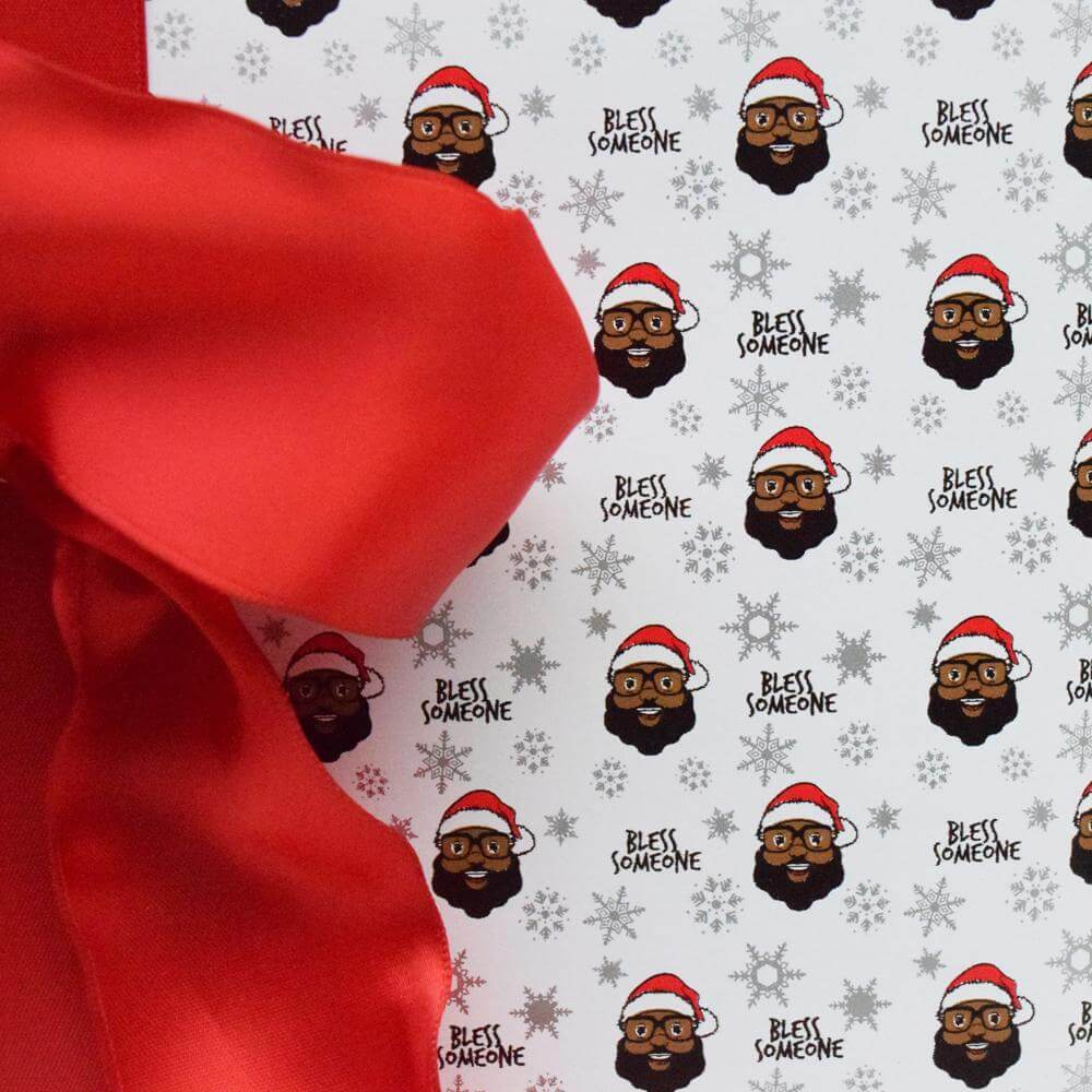 Bless Someone Wrapping Paper - White