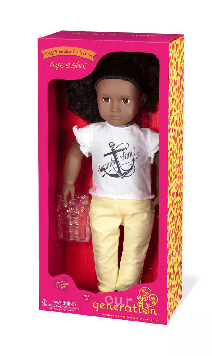 Our Generation Ayeesha Doll With Beach Outfit