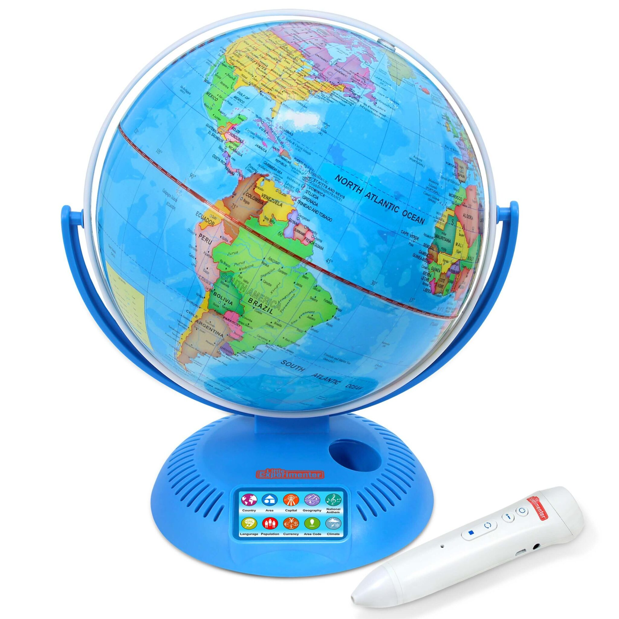 Little Experimenter Talking Globe - Interactive Globe for Kids Learning with Smart Pen