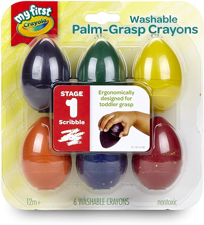 Crayola Palm-Grip Crayons; Art Tools Designed for Toddlers