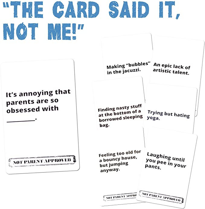 Not Parent Approved: A Fun Card Game for Kids, Tweens, Teens, Families and Mischief Makers