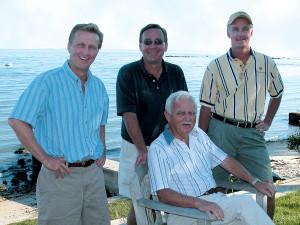 The Richards Family: Peter, David, Mark (standing) and Warren