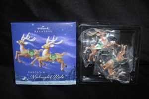 Hallmark Ornament Santa's Midnight Ride Ready For Flight