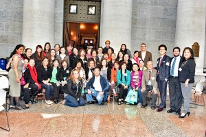 Attendees from all over State of Ohio after the Legislative visits and State house tour