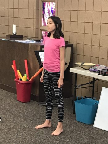 Gabriella sharing a song!
