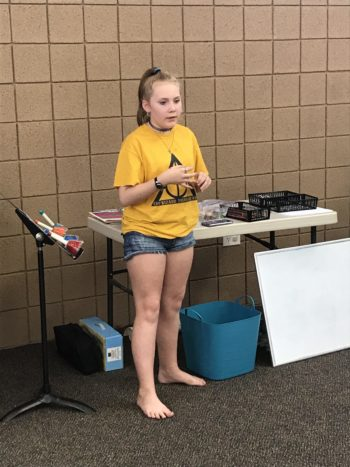 Mikayla sharing a song!