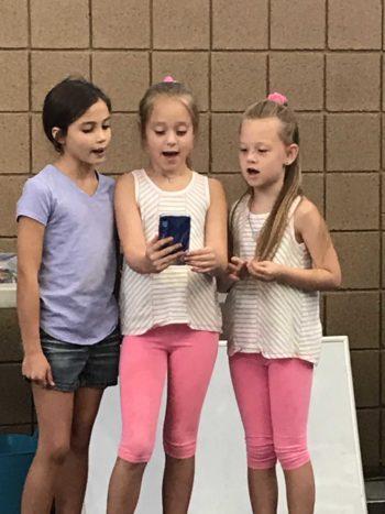 Ariella, Dalanie and Makalie - talent time!