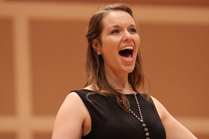 Molly singing Opera