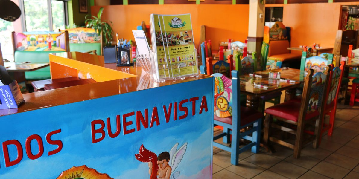 Our spacious Buena Vista Mexican restaurant dining room in Malvern, PA.