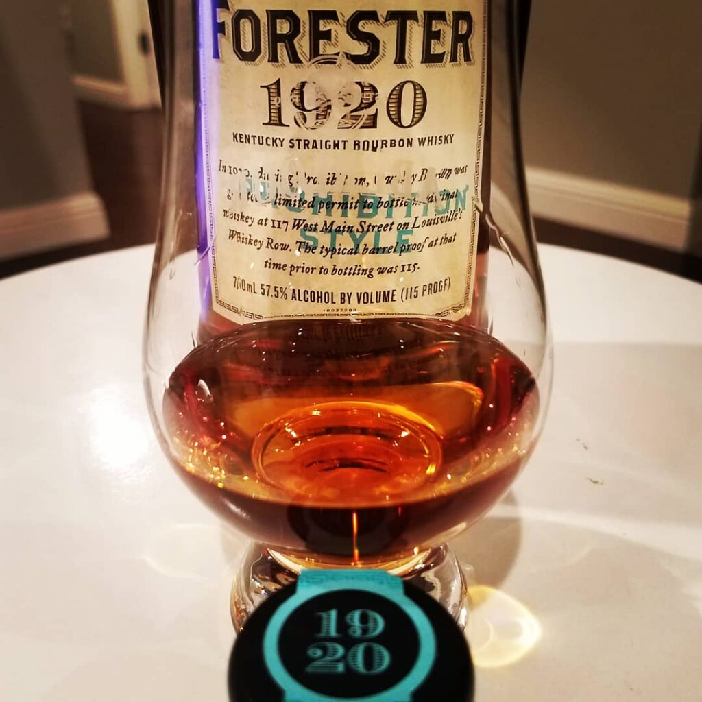 The Whiskey Noob Review Old Forester 1920 Prohibition Style