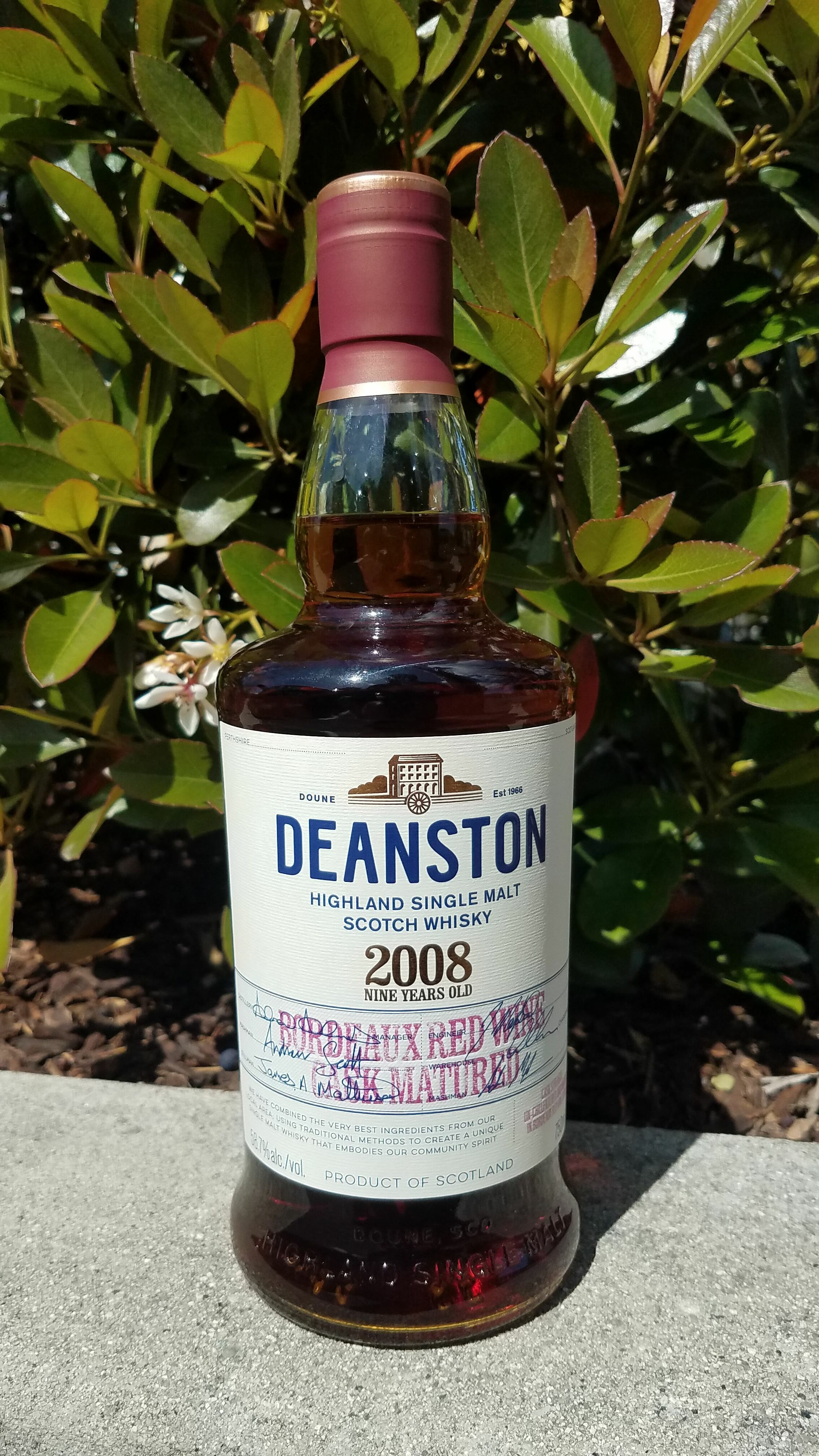 Deanston 2008 Bordeaux Red Wine Cask: JAWS Rating 8.3/10