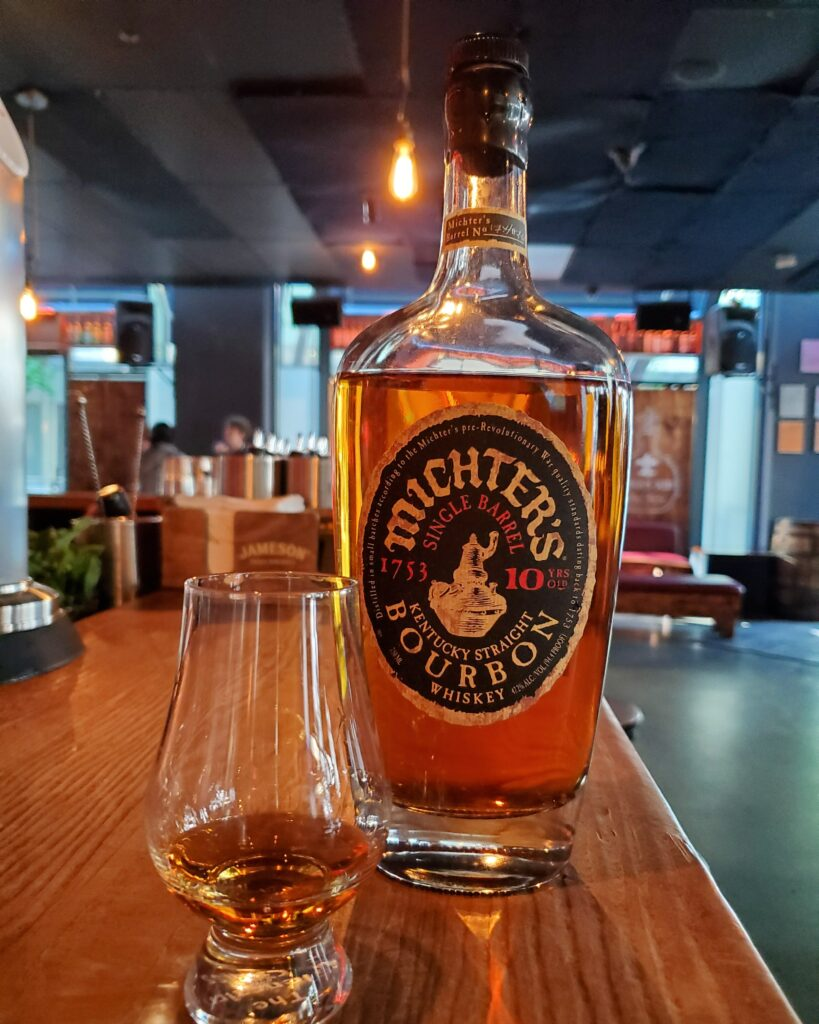 The Whiskey Noob review Michter's Single Barrel 10 yr bourbon