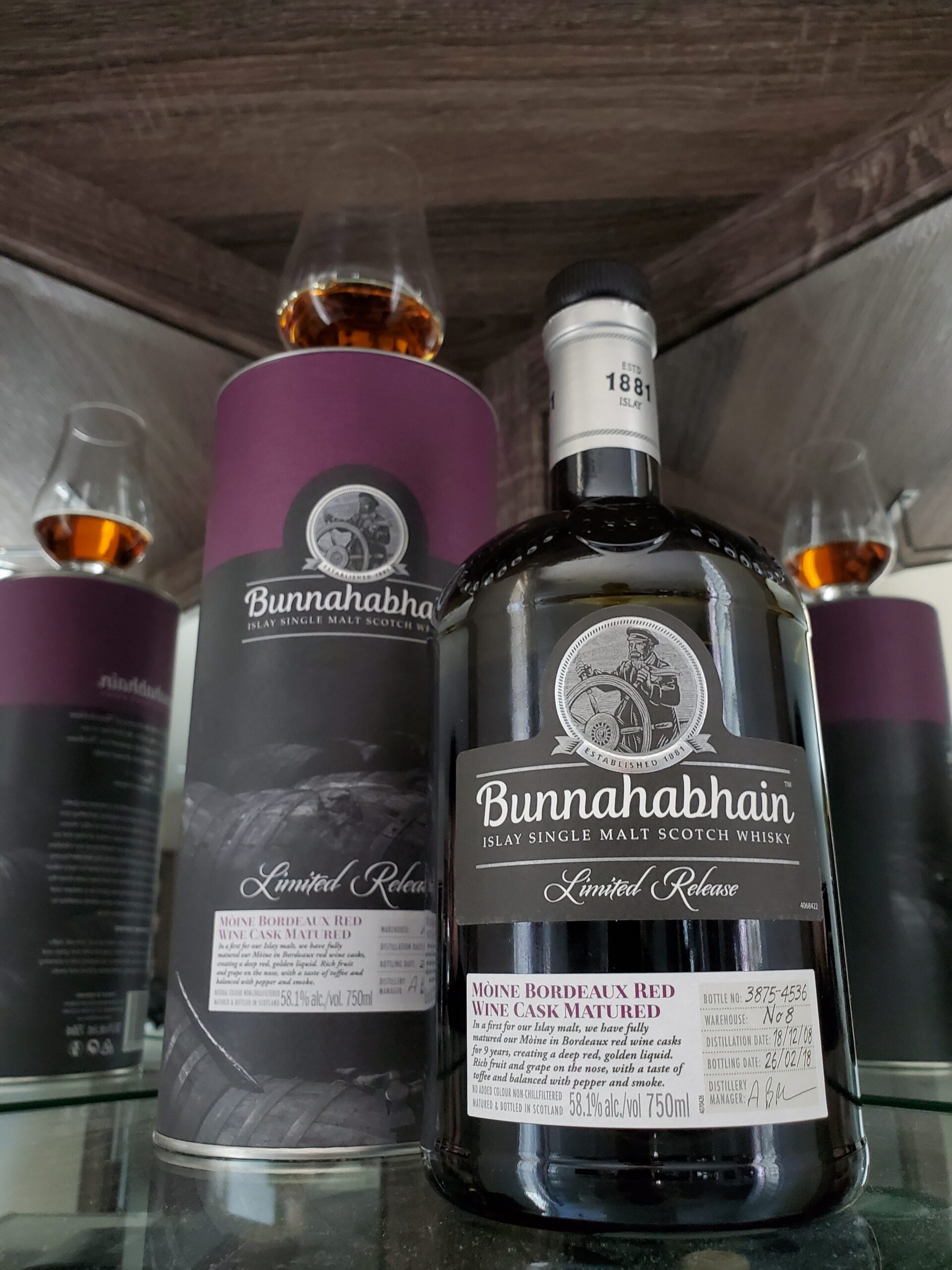 Bunnahabhain Moine Bordeaux Red Wine Cask Matured:  JAWS Rating 9.3/10