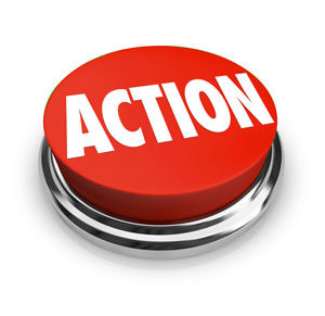 """red button with word """"action"""" on it"""
