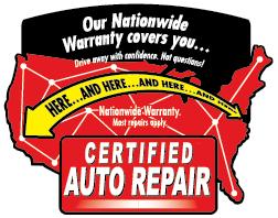 Certified Auto Repair Warranty