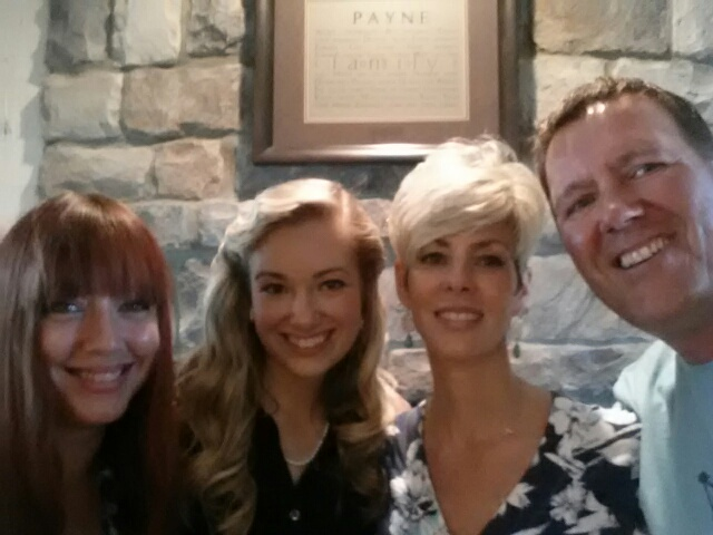 """My niece, my daughter, myself, and my husband were so giddy with joy at our mere togetherness that we recorded it with a """"selfie."""""""