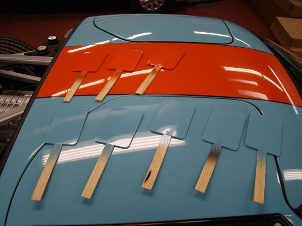 ford gt hood painted