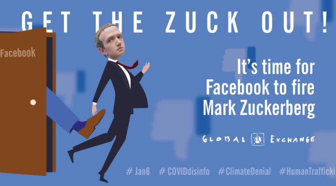Facebook Users Union Launches #FIREZUCK  Campaign: OCTOBER 17 Protest