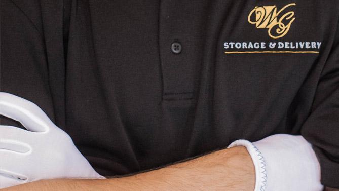 WG employee crossing arms.