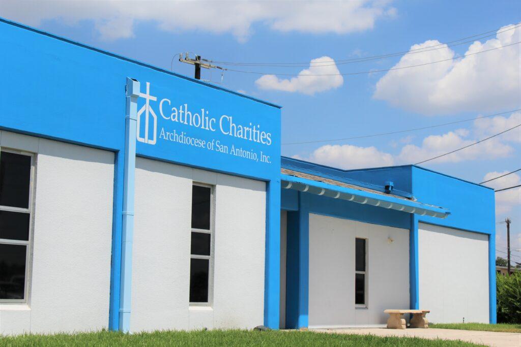 Outside of St. Stephens CARE Center. Catholic Charities of San Antonio, TX.