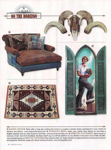"Suzanne Schmaltz, featured Huichol-inspired beaded skull, ""Fiesta King"", January 2015 Trend Watch"