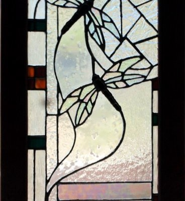 Stained glass, dragonflies