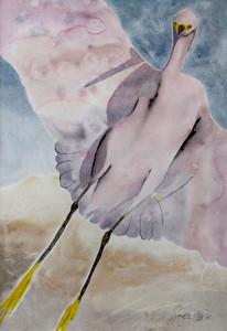 Heron, shorebird, California coast