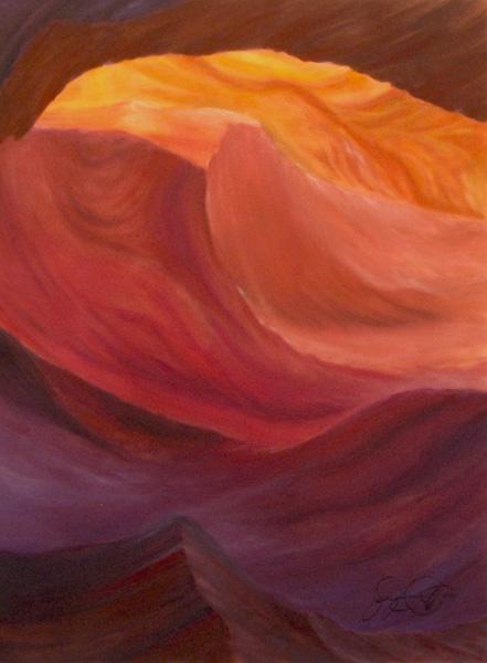 Pastel painting, Antelope Slot Canyon, Arizona