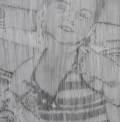 pencil drawing, child's portrait
