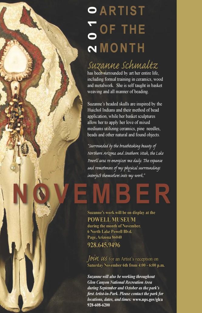 Suzanne Schmaltz, featured artist, Powell Museum, Page, AZ 2010