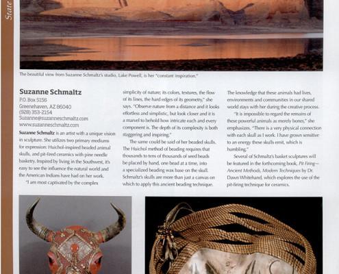 Suzanne Schmaltz, featured artist, Western Art Collector, January 2013