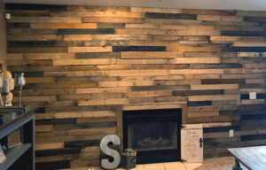 rustic living room wall